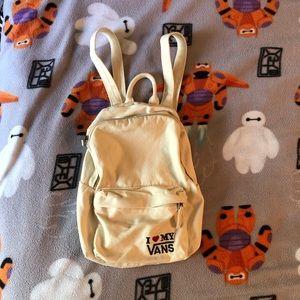 Vans canvas mini backpack